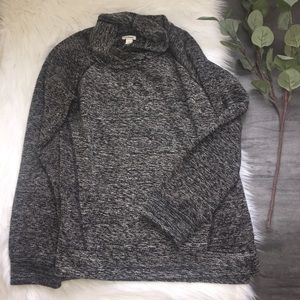 L.L.Bean Grey Cowl Neck Sweater